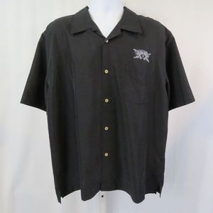Cubavera Button Down Shirt Black Chivas Regal